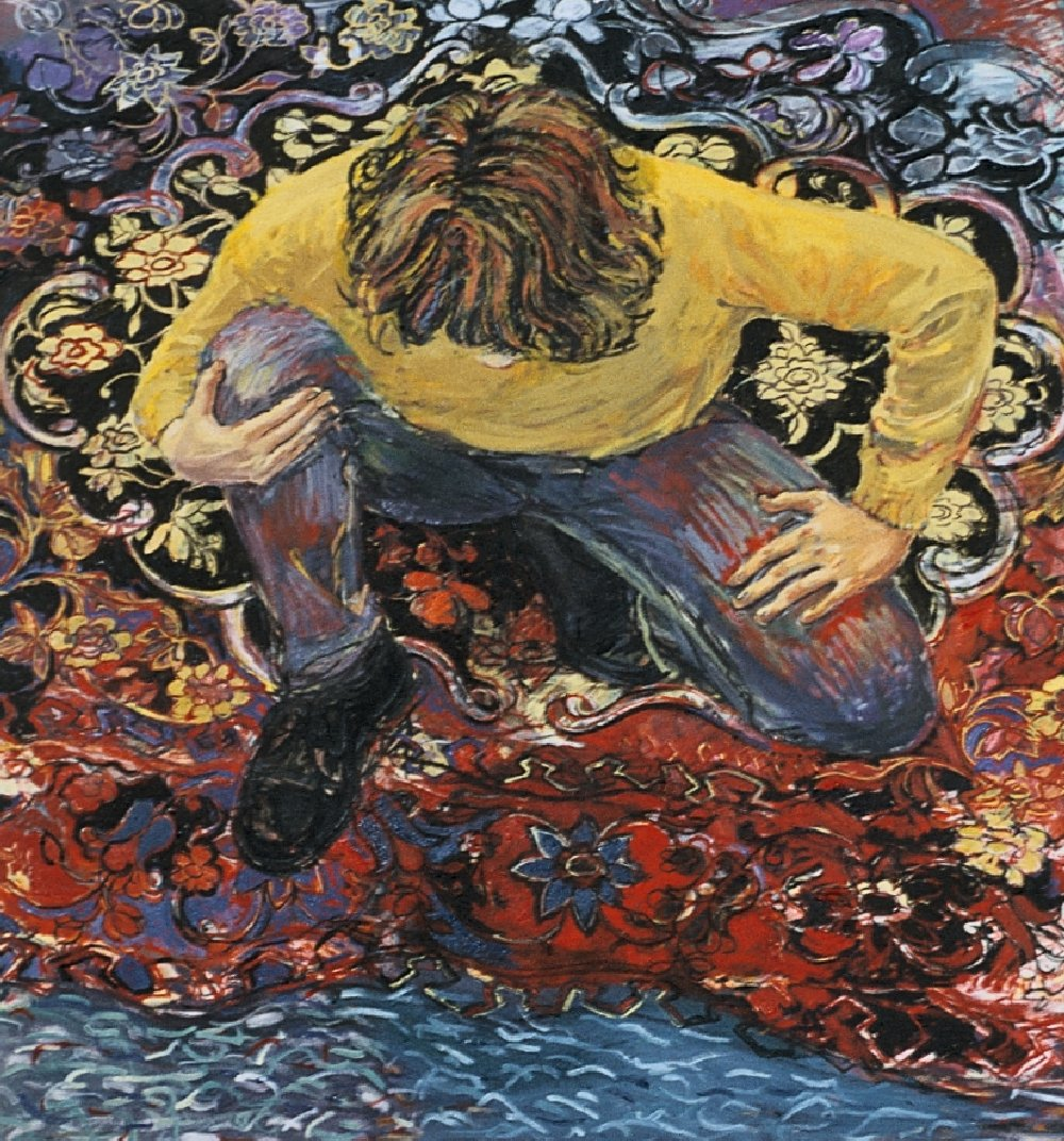 "Untitled, 36"" x 36"", oil on canvas, 1994 (private collection)"