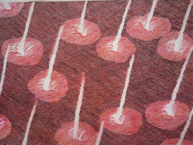 "Cherries, 7"" x 9"", gouache on paper, 2010"