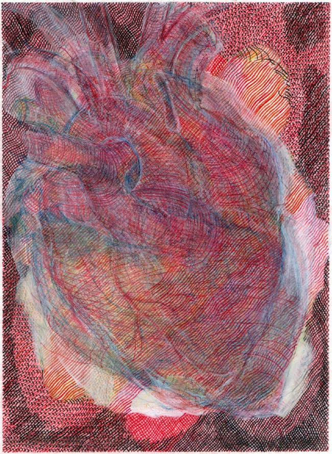 "Untitled, 7"" x 9"", mixed media on paper, 2009-16"
