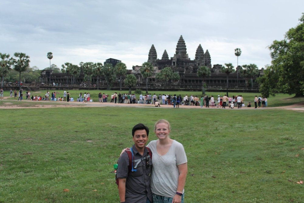 Seeing the amazing Angkor Wat in Cambodia.