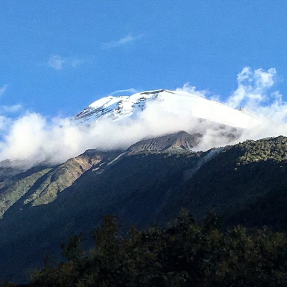 The clouds cleared and we were able to see the volcano!