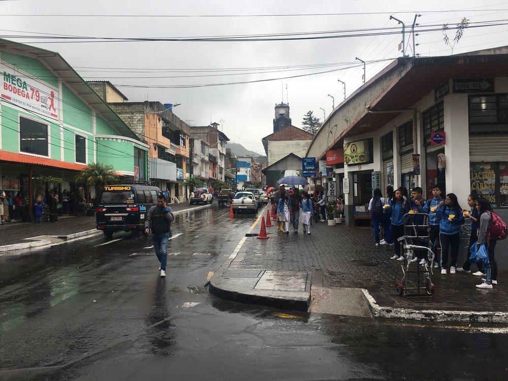Walking around Baños.