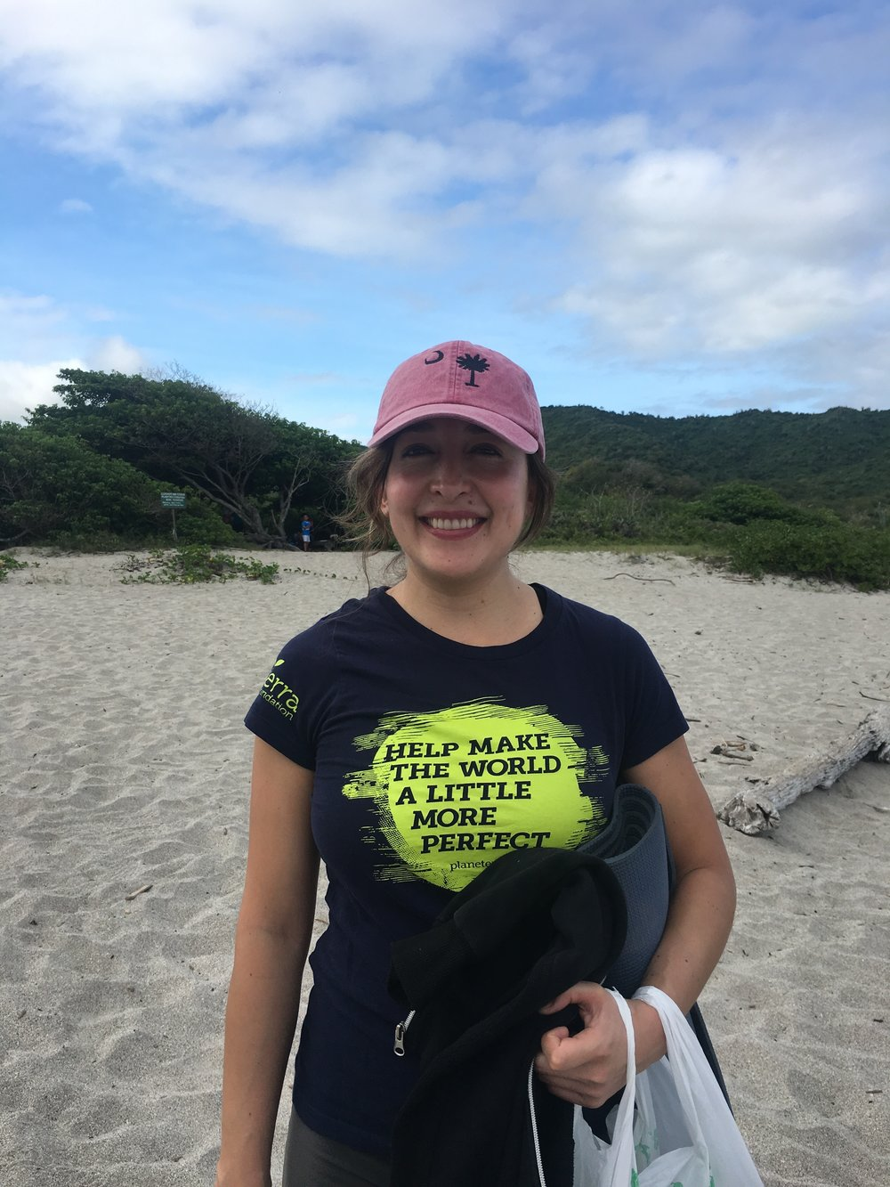 Our guide, Maria Sol, representing South Carolina in Ecuador.
