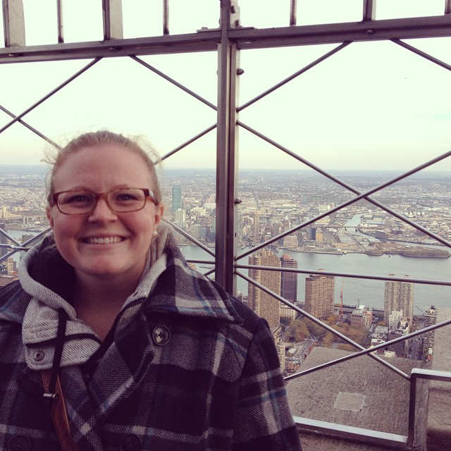 Me at the top of my Empire State Building. My best friend took me to NYC for my Bachelorette! Again, thank goodness for the bars!