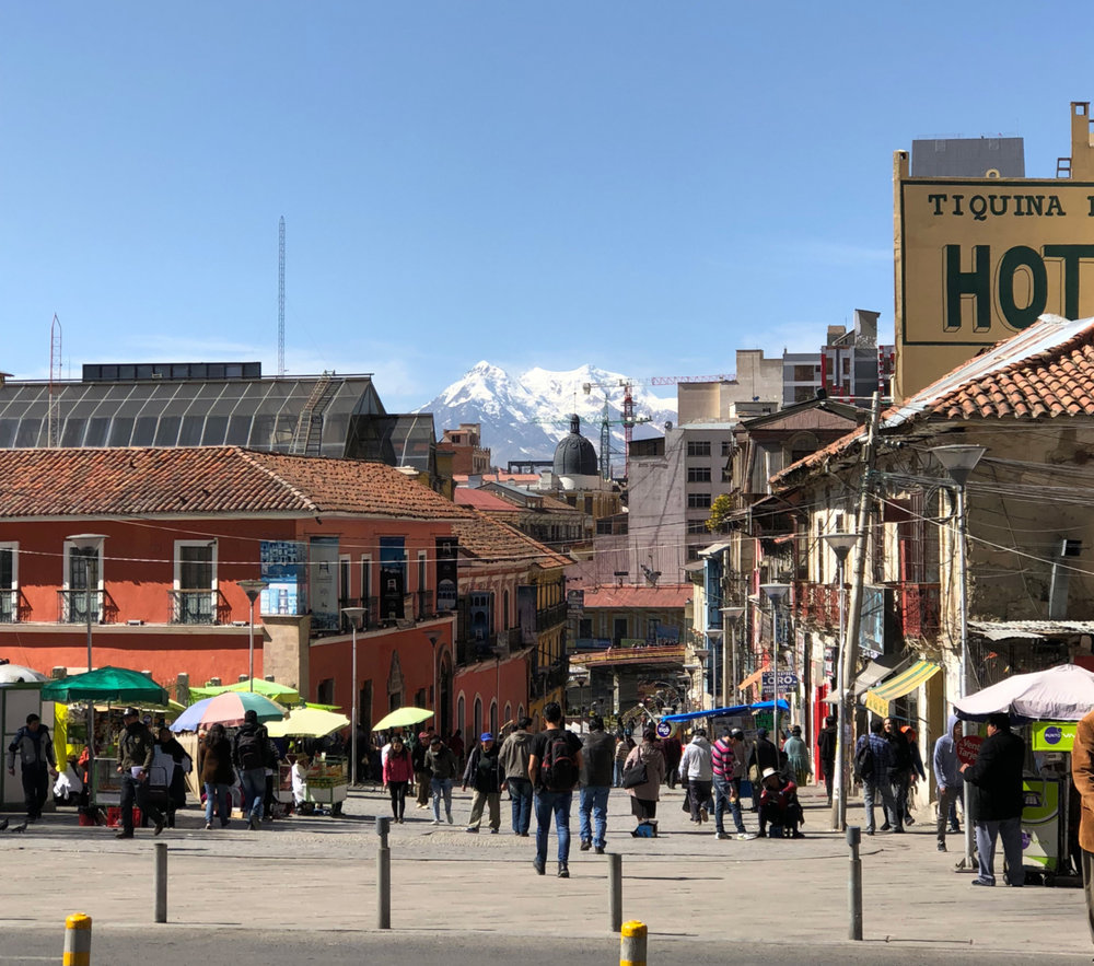 We did manage to see some really beautiful sites though! Check out these snow-capped mountains just beyond the bustling La Paz Streets!