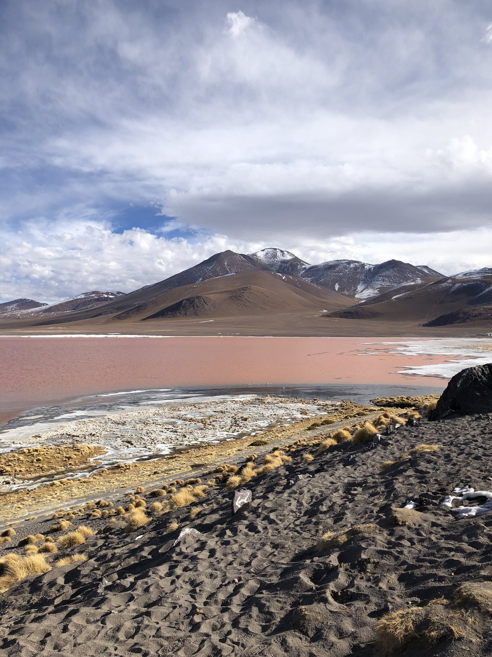 The third lagoon we visited was the Red Lagoon. This lagoon is red because of the mix of minerals.