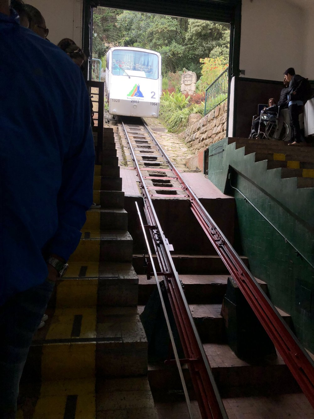 The train ride to the top took less than 5 minutes.