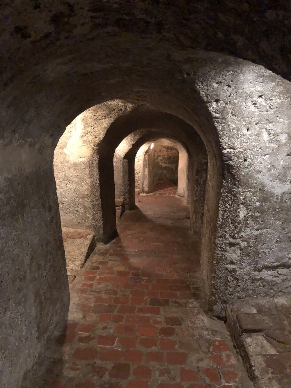 We were able to walk through some of the underground tunnels in the fortress.