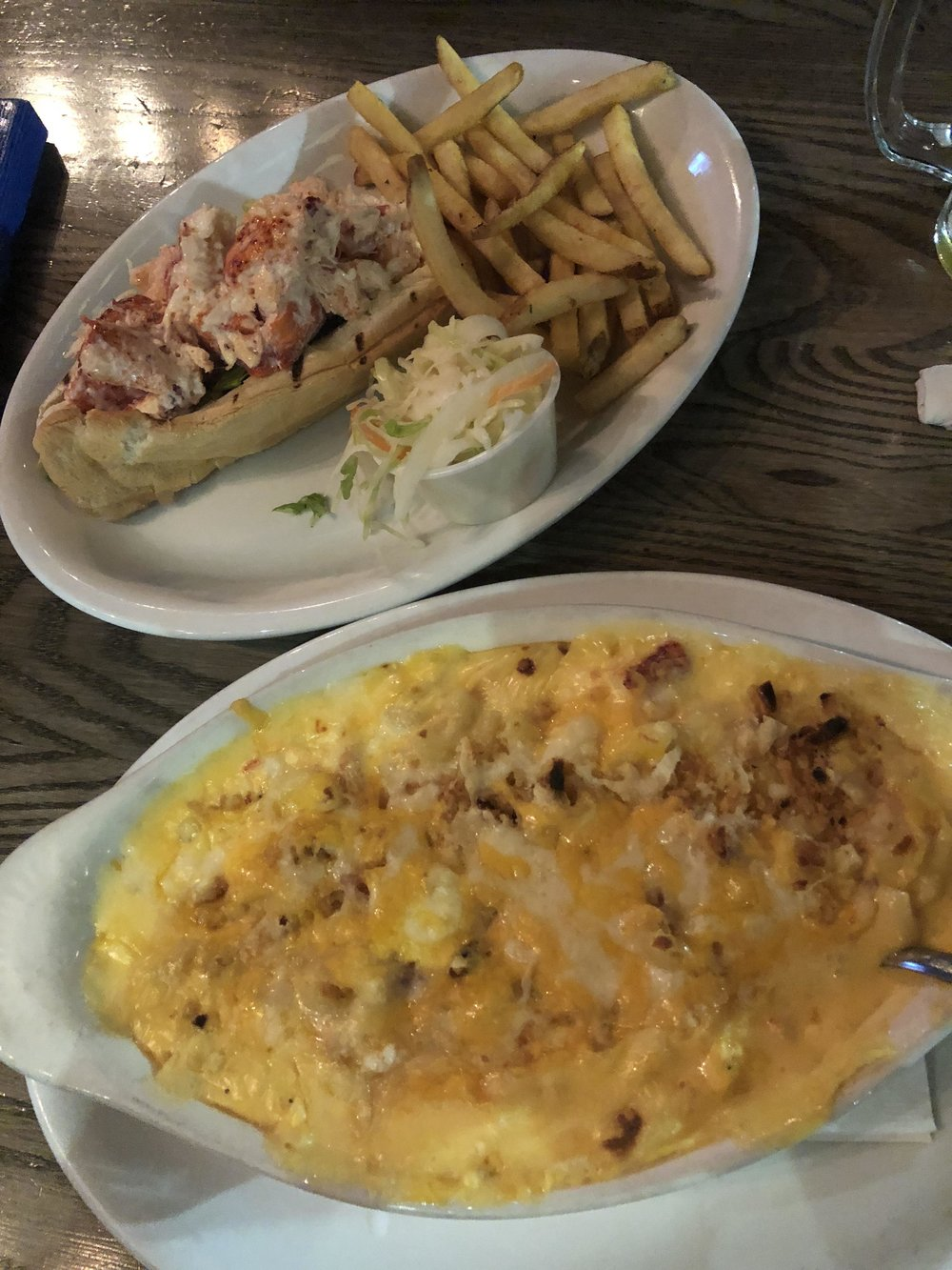 I ordered the Lobster Mac and Michael ordered the Lobster Roll. Both were good but the Lobster Roll was on point and definitely our favorite.