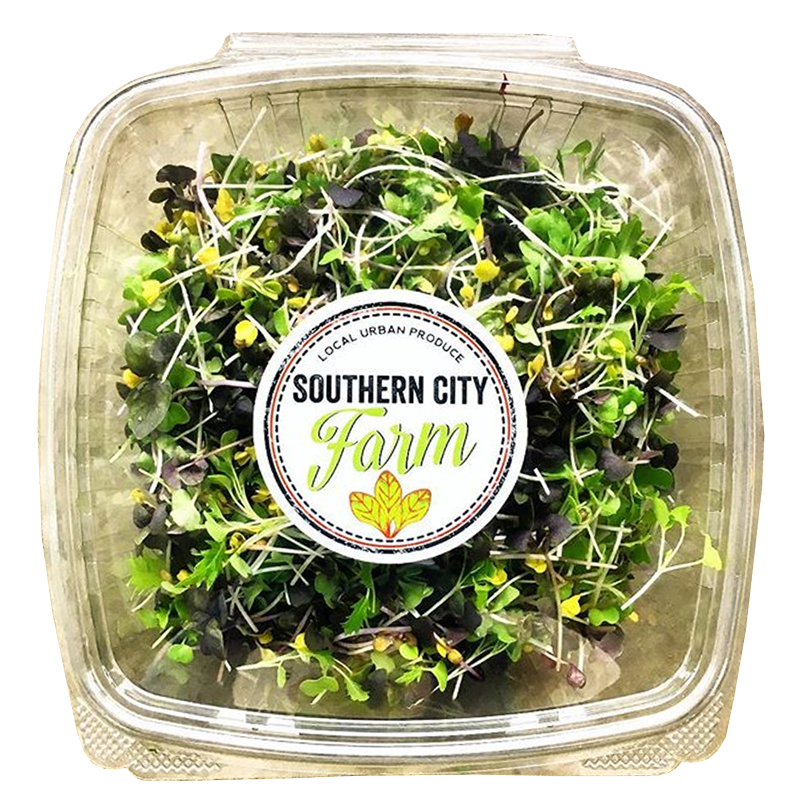 Add us to your grocery list... - BLENDS INCLUDE: Alfalfa , Arugula, Broccoli, Kale, Mung bean, Pea,  Spicy radish,Sunflower, Rainbow radish, Wheatgrass