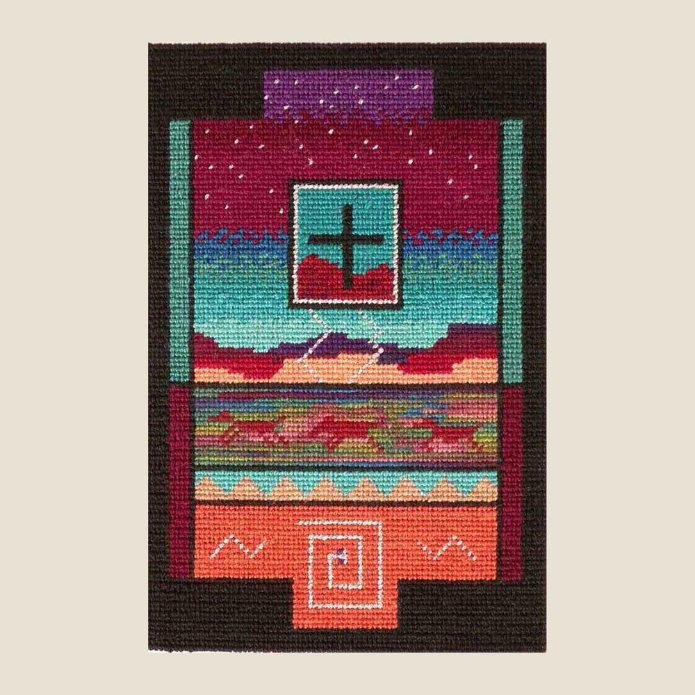 "NEW MEXICO SUNSET   Petitpoint  7"" x 4.25"""