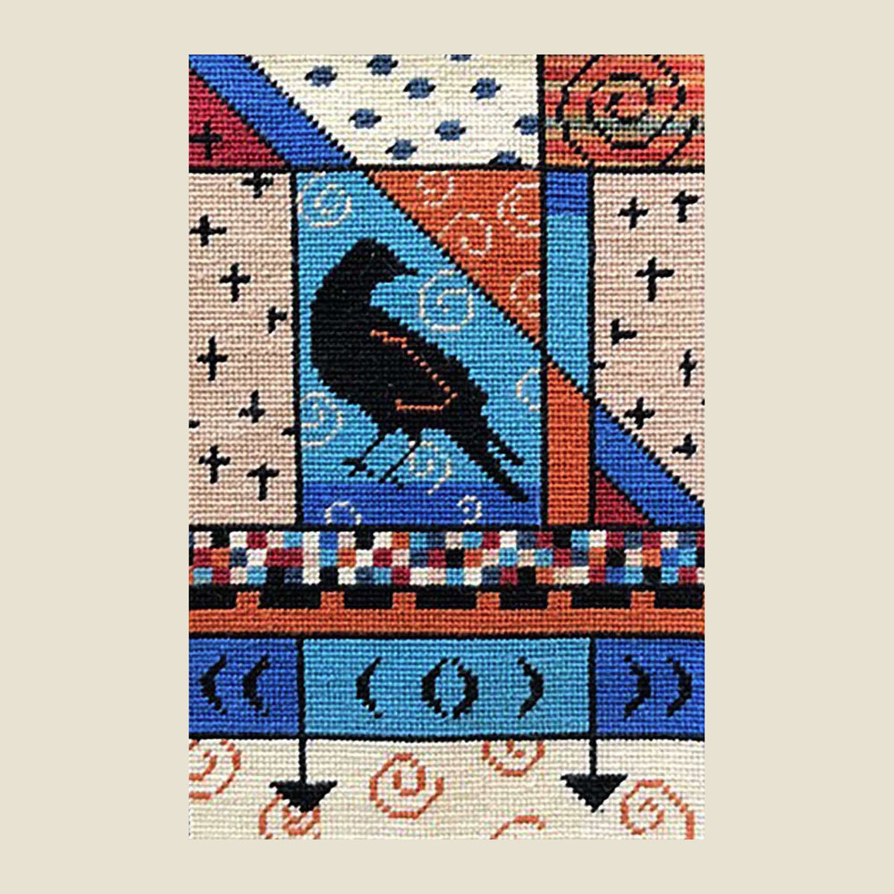 "CROW CONFUSION   Petitpoint  7.5"" x 5"""