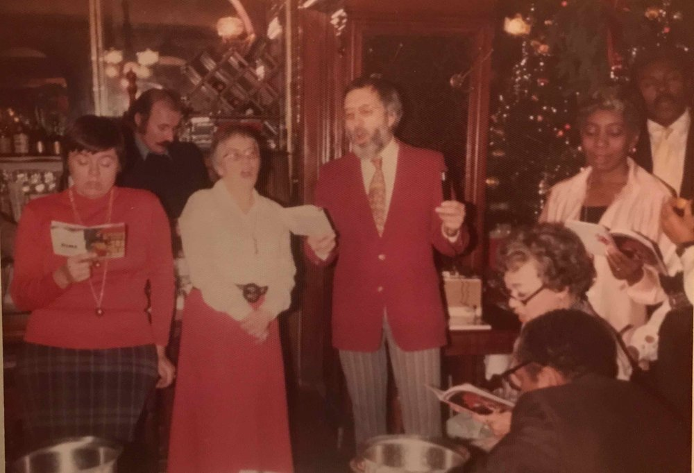 Gage & Tollner staff Christmas party, 1970s