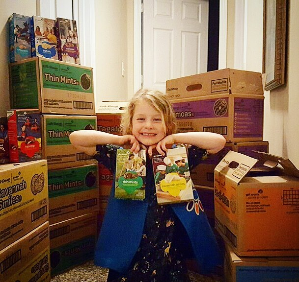 Hey friends! Our awesome manger Beth has an even awesomer daughter Adelle who happens to be stocked up with the best cookies on the planet- Girl Scout cookies! Come see her from 1-3 pm tomorrow at Umbra and grab some sweets along with your favorite coffee!  #girlscoutcookies #gallatintn #byenewyearsresolution #gimmenow