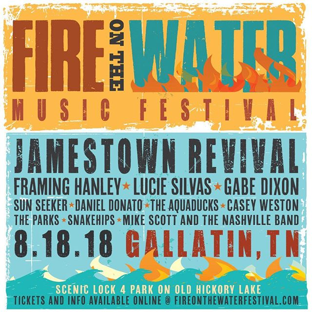 @fireonthewaterfestival is this weekend! We are so excited to see this event happening in Gallatin! Who's going? . . . . #fotw2018 #fotw #fireonthewaterfestival #gallatintn #livemusic #musicfestival #sumnercountytn #locallove #lock4park