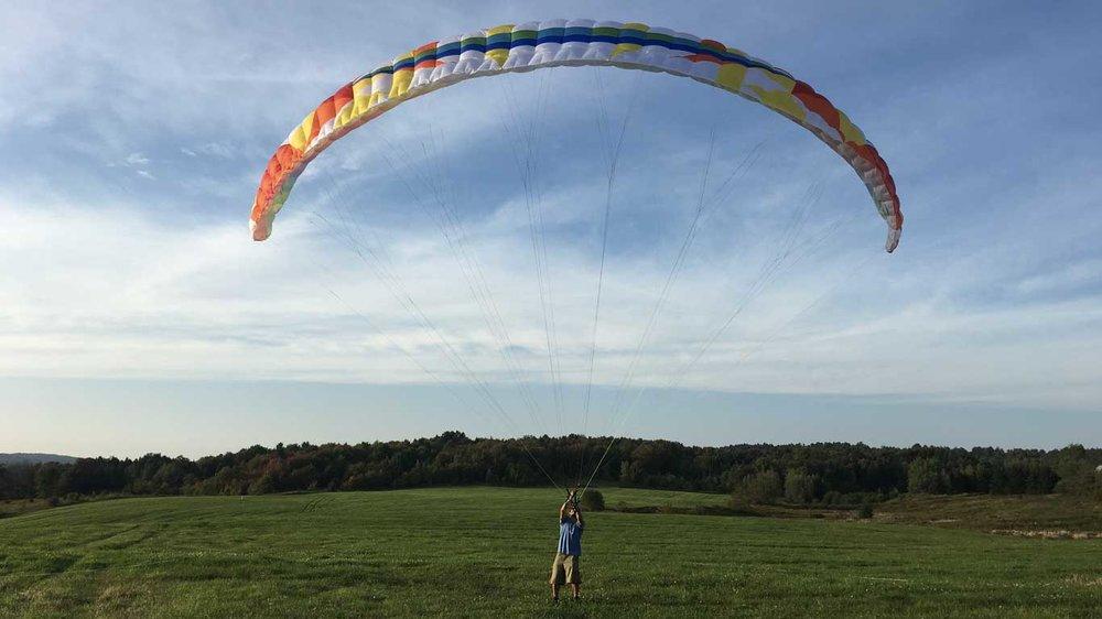 Calef kites a BGD Adam student wing