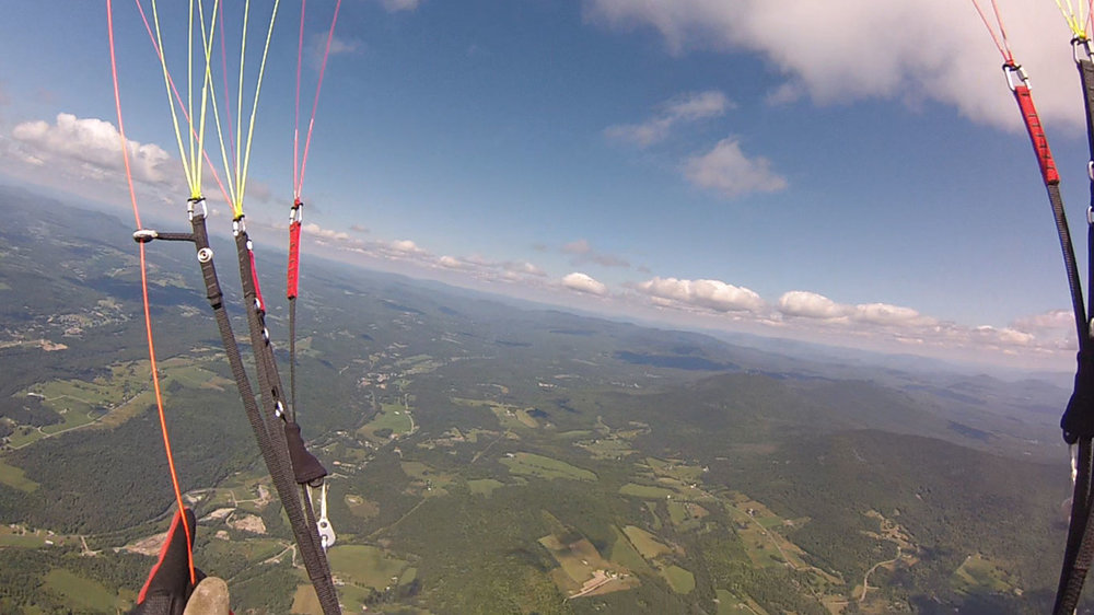 ABOVE The author thermalling high above Vermont.