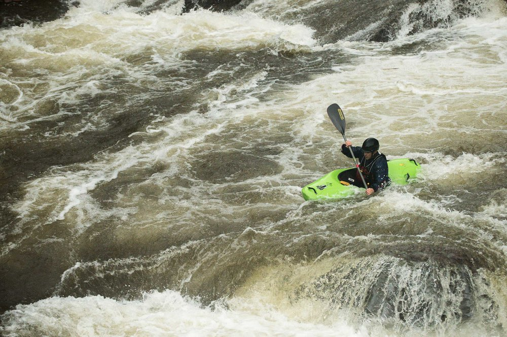 Calef Letorney, revisiting his whitewater roots. Photo: Ryan Dunn