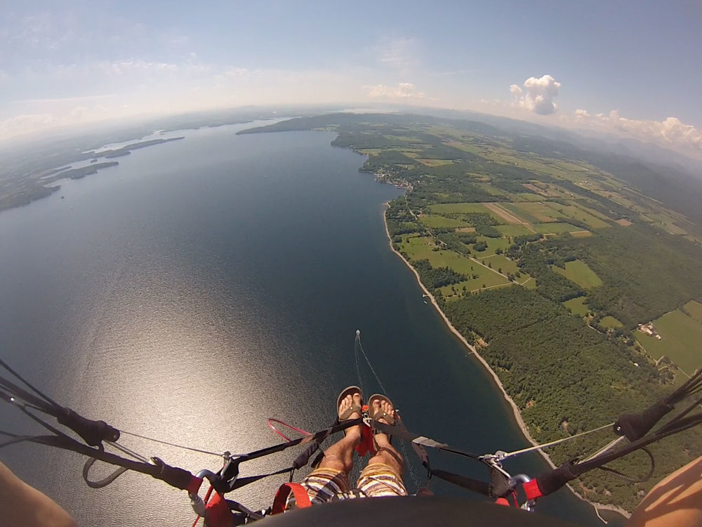 Board shorts and flip-flops, because towing over the water is serious business. Paraglide New England offers maneuvers training so students can handle in-flight incidents with confidence.