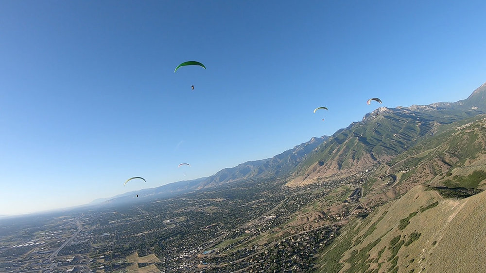 Ending the day with blissful soaring at the North Side Point of The Mountain.