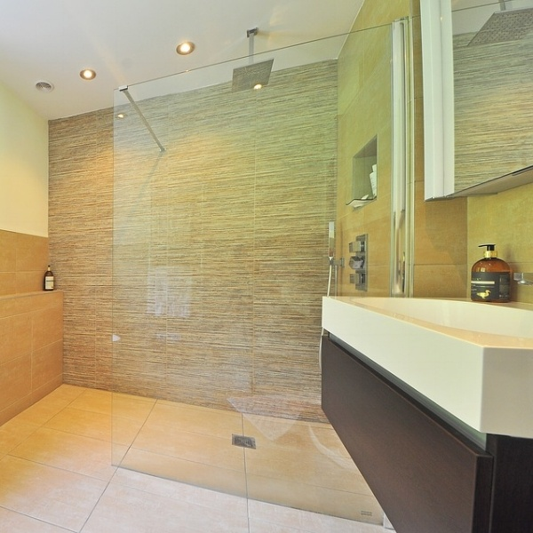 Glass showers make bathrooms feel larger.