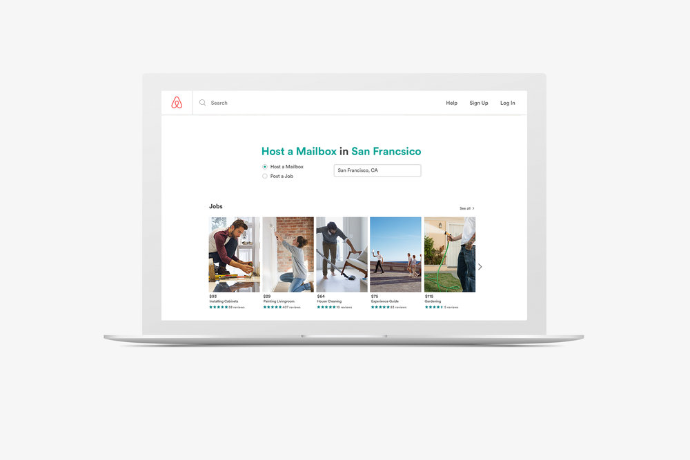- Airbnb will also help employ the homeless through Airbnb.com, creating a section of the site where hosts can post jobs they need done around their house or sponsored ones within the community.