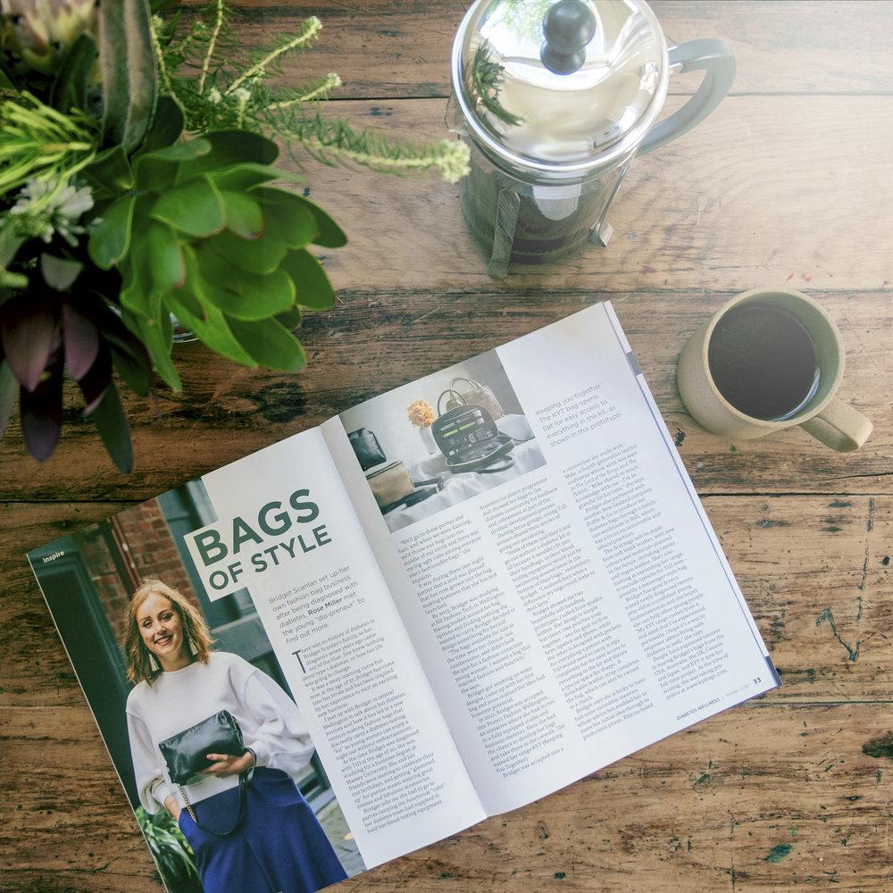 Bags of Style   Diabetes Wellness Magazine; Winter 2018 Words: Rose Miller