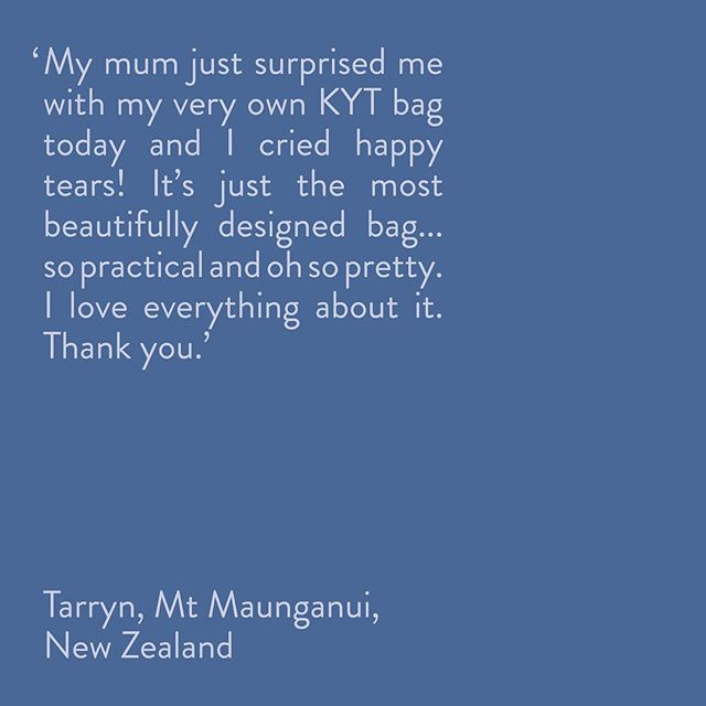This message made our hearts skip a few beats 💛💛💛 . Thanks Tarryn for letting us share your kind words, we're stoked you love it xx . Just two days left to surprise your loved one this Christmas - NZ shipping closes tomorrow 🎁 . . . . #kytbags #diabetes #diabetesbag #t1d #t1dlookslikeme #type1diabetes #crossbody