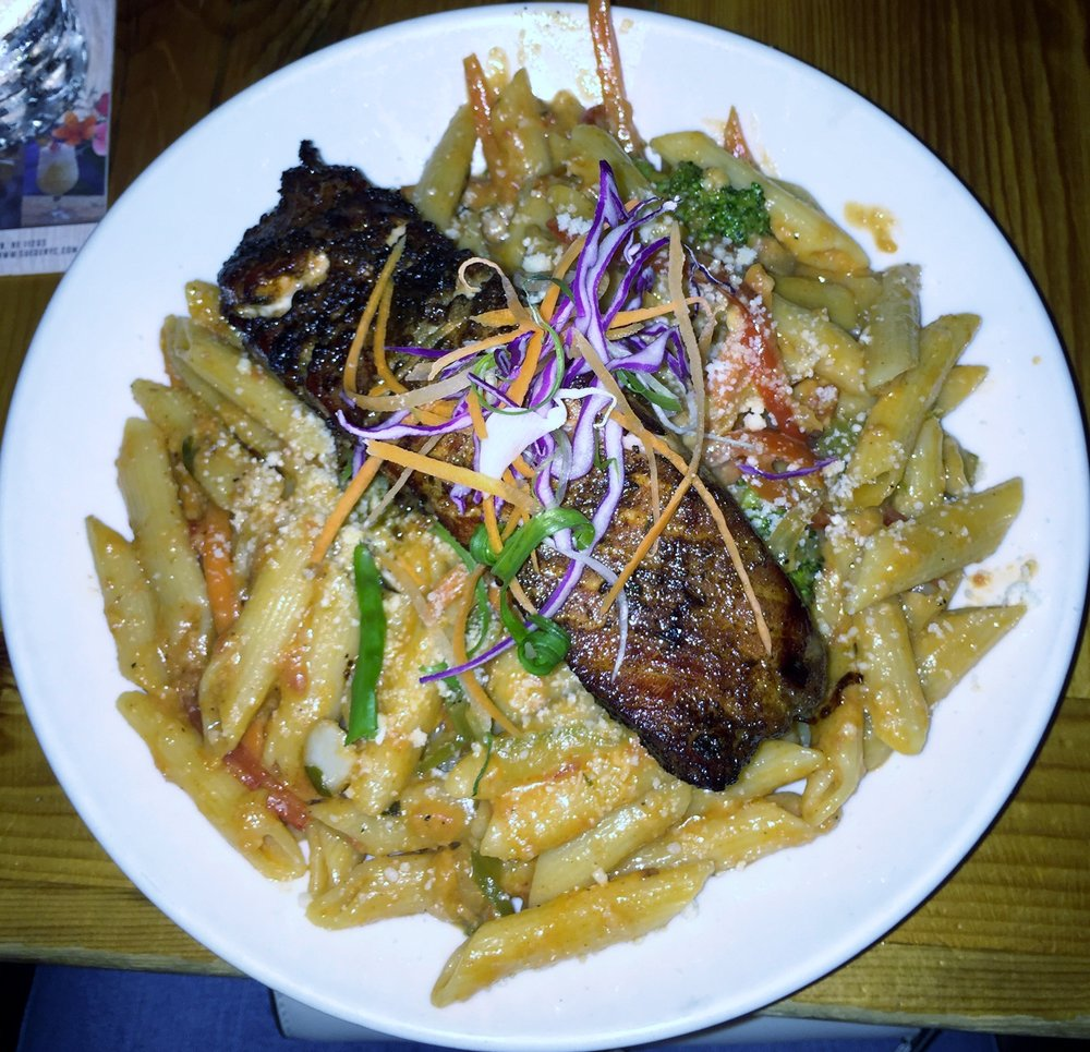 Creole Pasta with Salmon