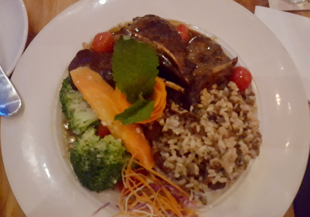 Lamb Chops with Wild Rice