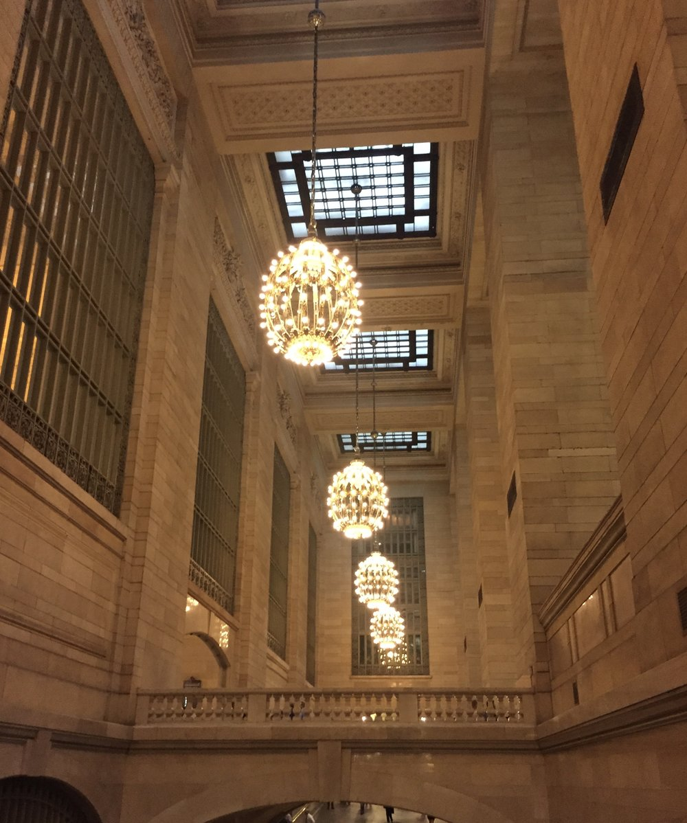 Grand Central Station has great light fixtures.