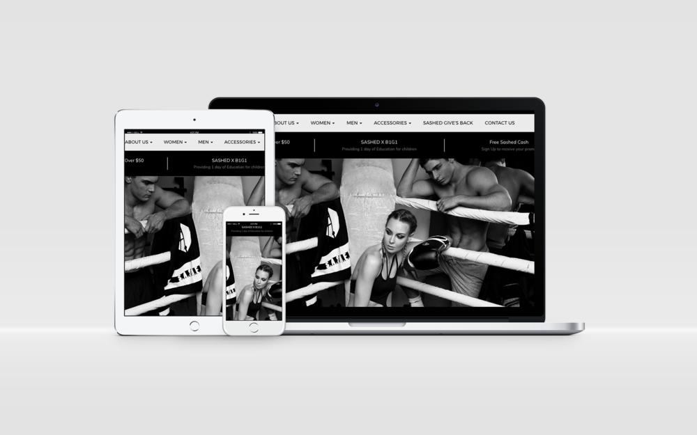 | Sashed The Label | Web Design