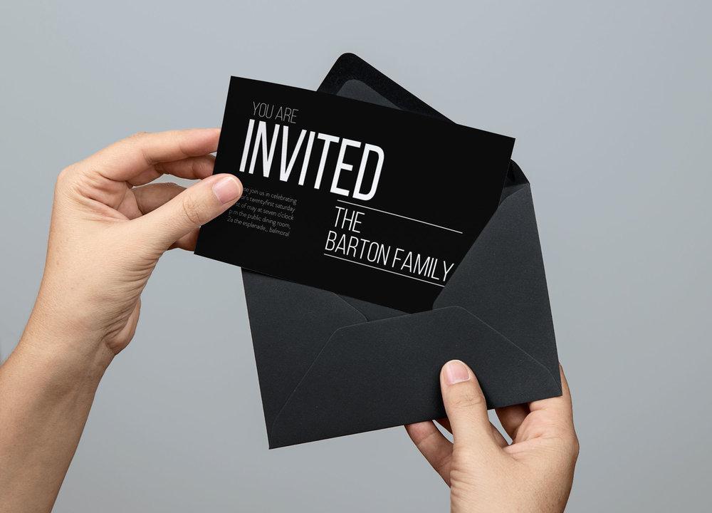 | Invitation | Graphic Design
