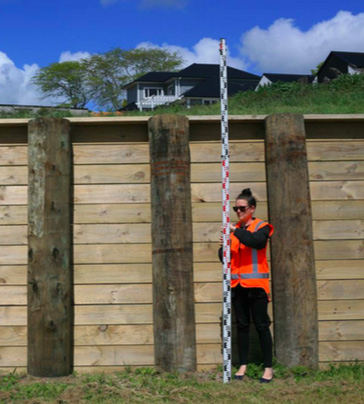 2.5-metre retaining wall