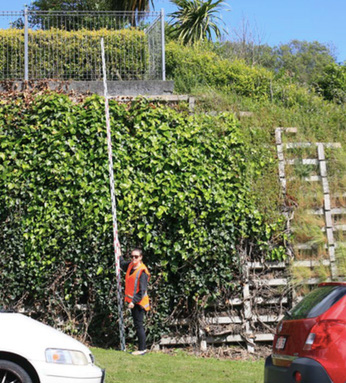 4-metre retaining wall with 1.5m fence above