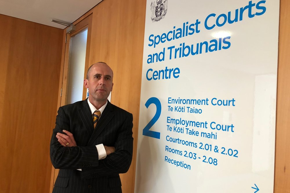 Peter Kensington of Kensington Planning and Landscape Consultants outside the Environment Court in Auckland