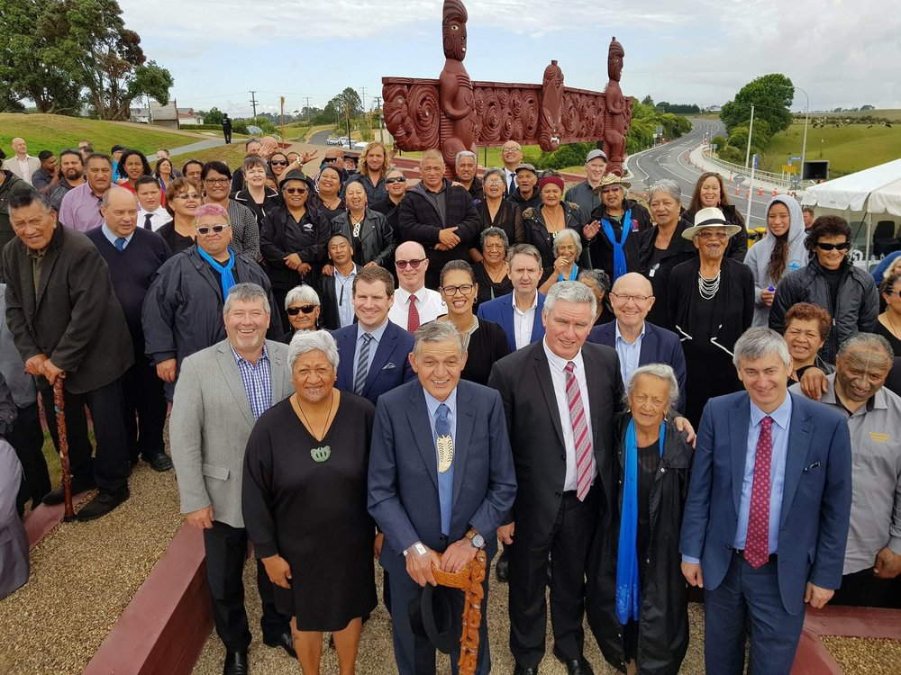The Rangiriri Paa was officially opened last weekend  - with the ceremony attended by Waikato District Council Mayor Allan Sanson, Te Atawhai Paki, King Tuheitia Paki and Crown Minister Kelvin Davis as well as NZTA chief executive Fergus Gammie