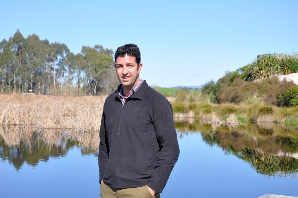 Landscape architect Antony Rewcastle at the Karamu Catchment.