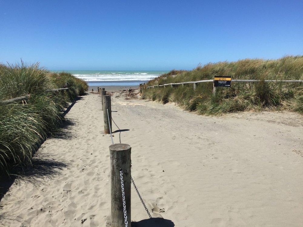 Lawson, a keen photographer, had no idea Christchurch had a beach so close.
