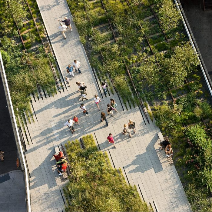 New York's renowned Highline through the Chelsea area.