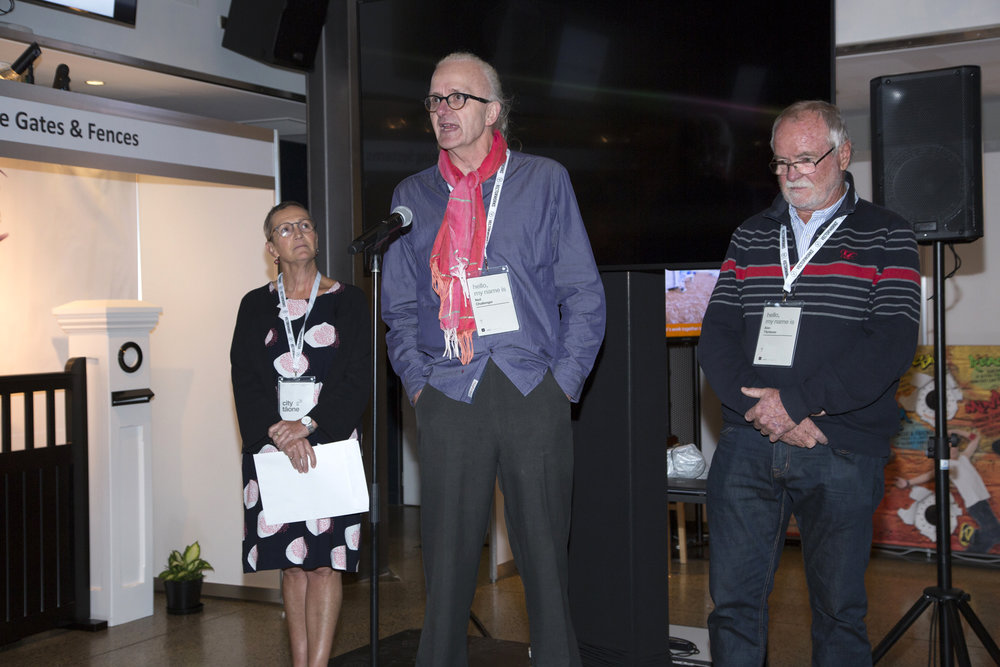 Neil Challenger speaking after being introduced as an NZILA fellow - April 11 2018.