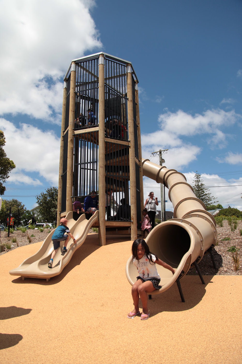 An example of Playground Centre's work from Waterview Park in Auckland.