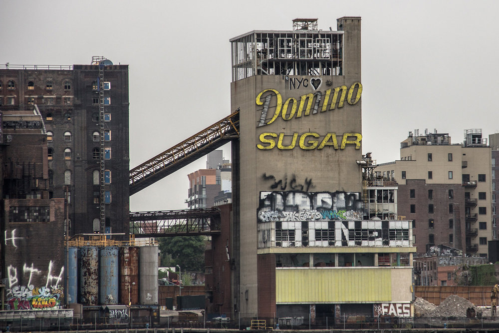 A shot of the abandoned sugar refinery courtesy of Curbed NY.