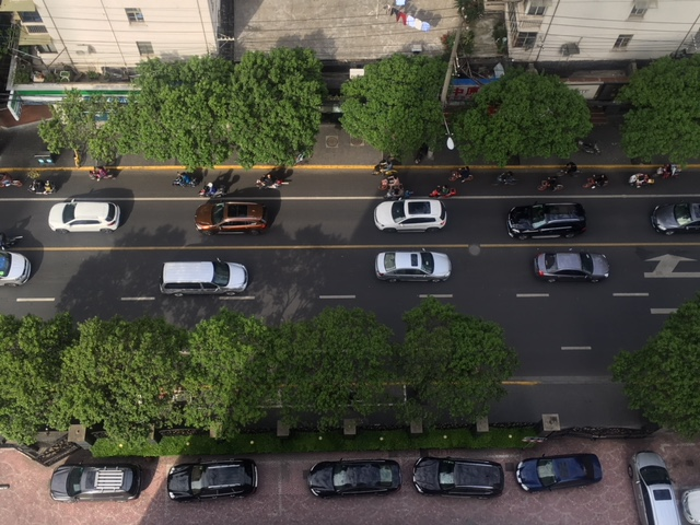 Private car ownership is discouraged in Shanghai.