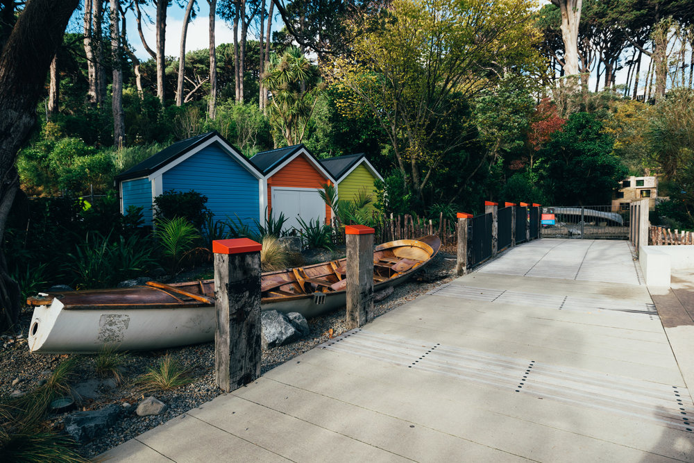 "Resene Total Colour Award judges said in 'Meet the Locals – He Tuku Aroha' ""architecture that could easily be hidden is celebrated with bolder colours becoming part of the enjoyment of the space."""