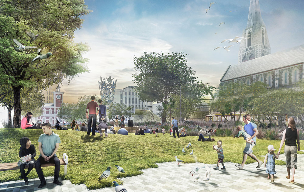 The regeneration of Cathedral square will be delivered in stages.