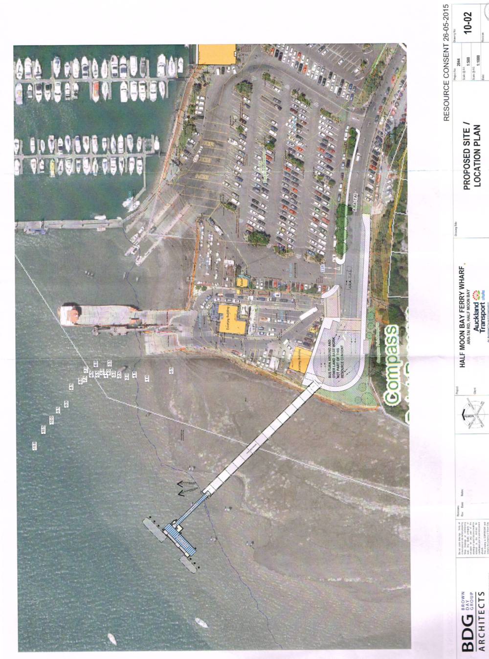 Plans from the Half Moon Bay ferry terminal in Auckland which were included in hearings Absolum sat on in the past two years.