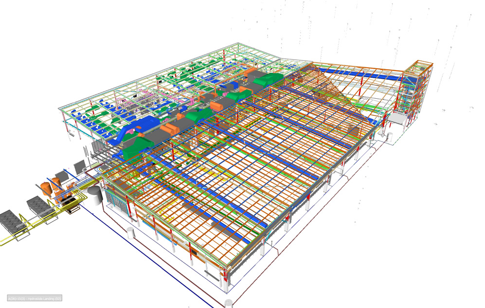 An example of building information modelling.