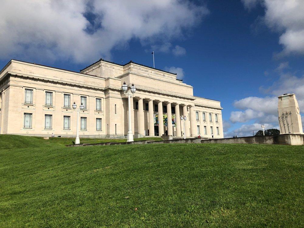 The Auckland War Memorial Museum overlooks the Auckland Domain.