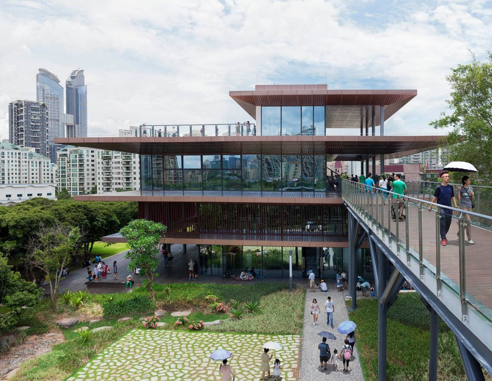 The project's building and landscape features have been designed to promote edutcation. Photo credit - Lard Buurman.